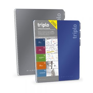 Quaderno blocco triplo 3 rigature Colortouch Mitama 62284