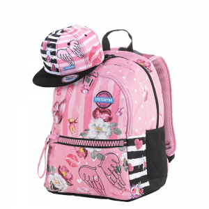 ZAINO PLUS GIRL PINK FLOWERS