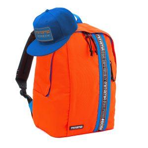 fronte zaino mitama colortouch arancio fluo con cappello