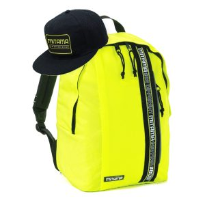 fronte zaino mitama colortouch giallo fluo con cappello